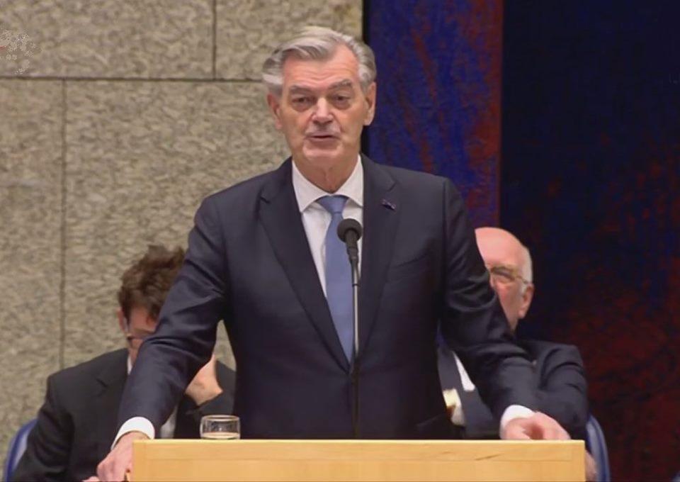 Martin van Rooijen tijdens de behandeling van de initiatiefwet van 50PLUS