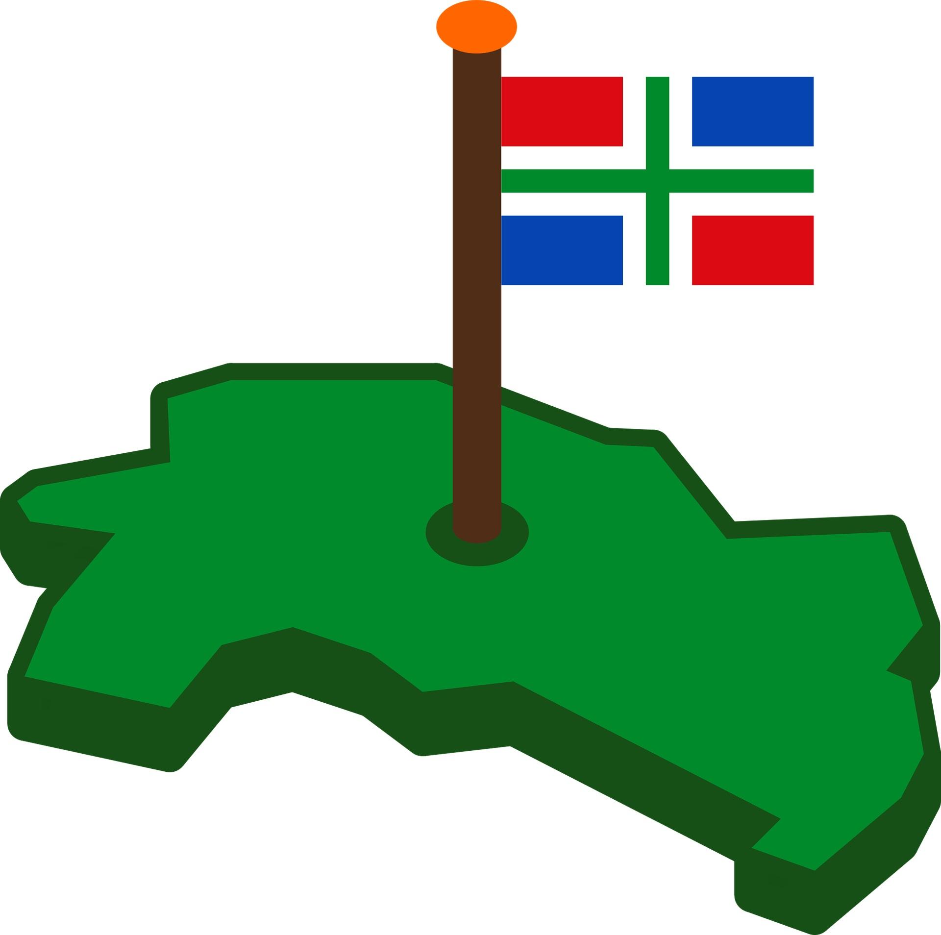 Kaart en vlag van Groningen - Beeld: Pixabay c.c.